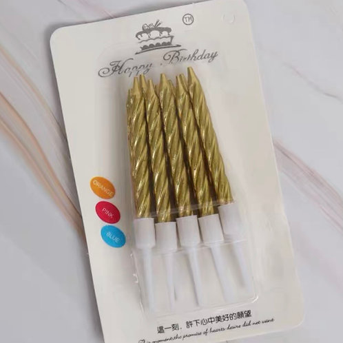 1 pack of 10 golden candles