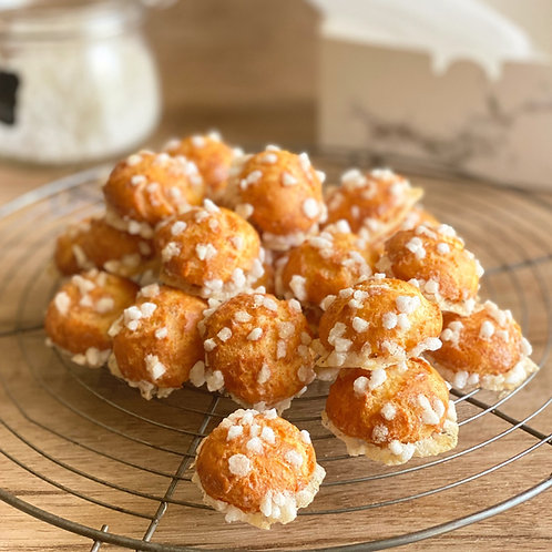 12 pieces - Chouquettes according to Philipe Conticini's recipe