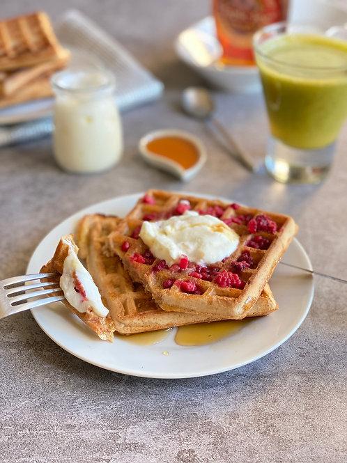 Healthy sourdough whole wheat waffles - 6 pièces