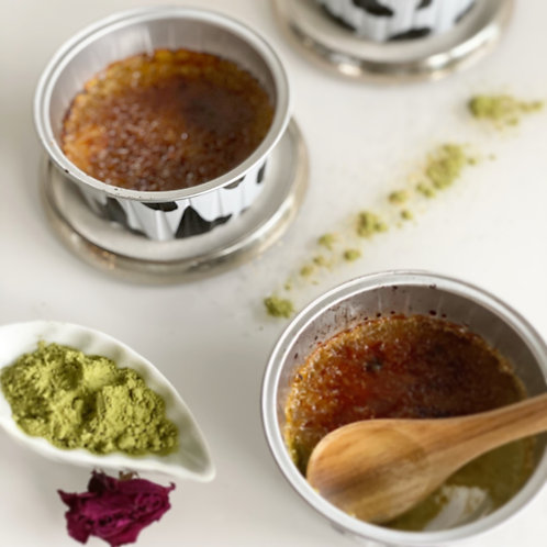 Green tea or vanilla crème brûlee - 6 pieces