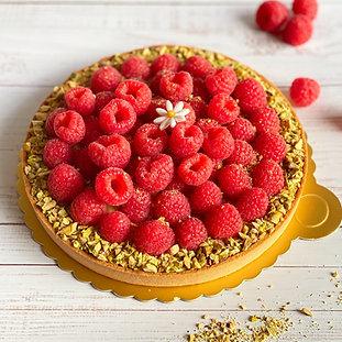 Pistachio Raspberry tart - tarte framboise pistache