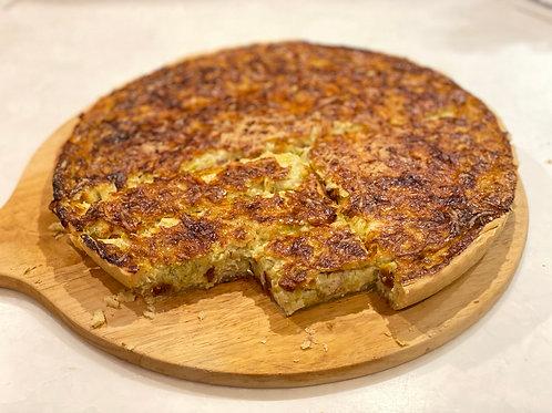 Quiche poireaux lardons - leek and lardons quiche