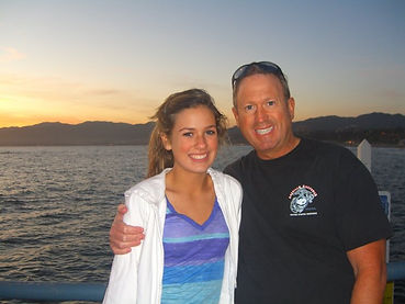 Eric and daughter in Southern California