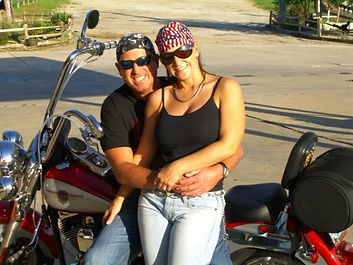 Eric and Sherry motorcycle riding