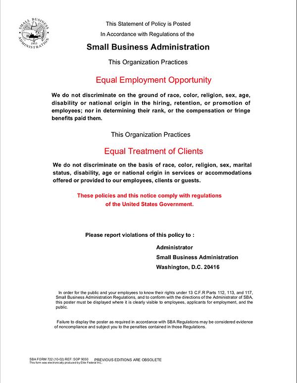 SBA Notice