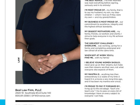 Beal Law Firm Senior Managing Attorney and Member, Constance Mims, Featured in Women in Business