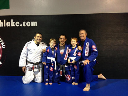 Eric and sons at Jiu Jitsu
