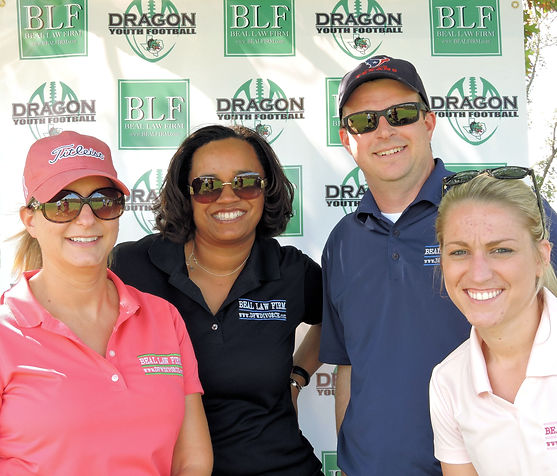 Bryan and other Beal Law Firm Senior Attorneys at a Charity Golf Tournament