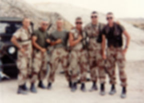 Eric and other Marines, 29 Palms California