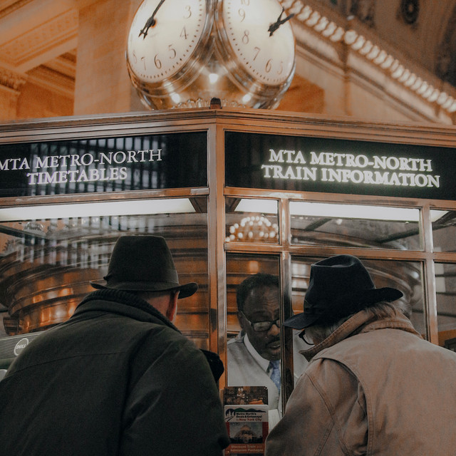 Two Men in Hats at GCT