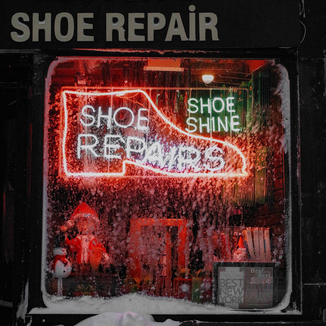 Frozen Shoe Repair Window