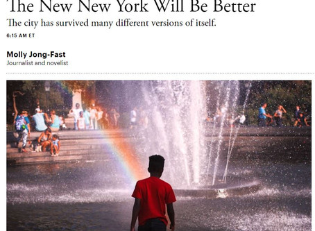The New New York Will Be Better: Article in The Atlantic feat. my NYC images