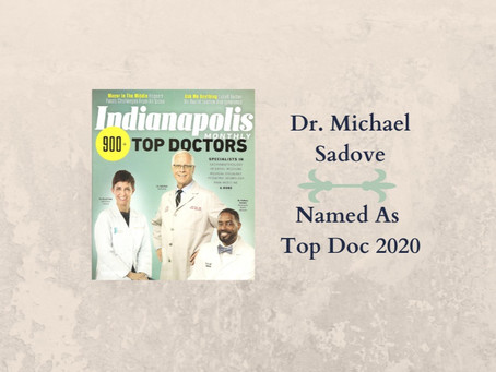 Dr. Michael Sadove Named as Indy Monthly Top Doc 2020