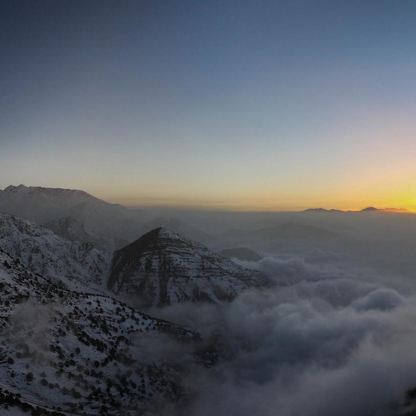 Coucher de soleil sur le Haut Atlas