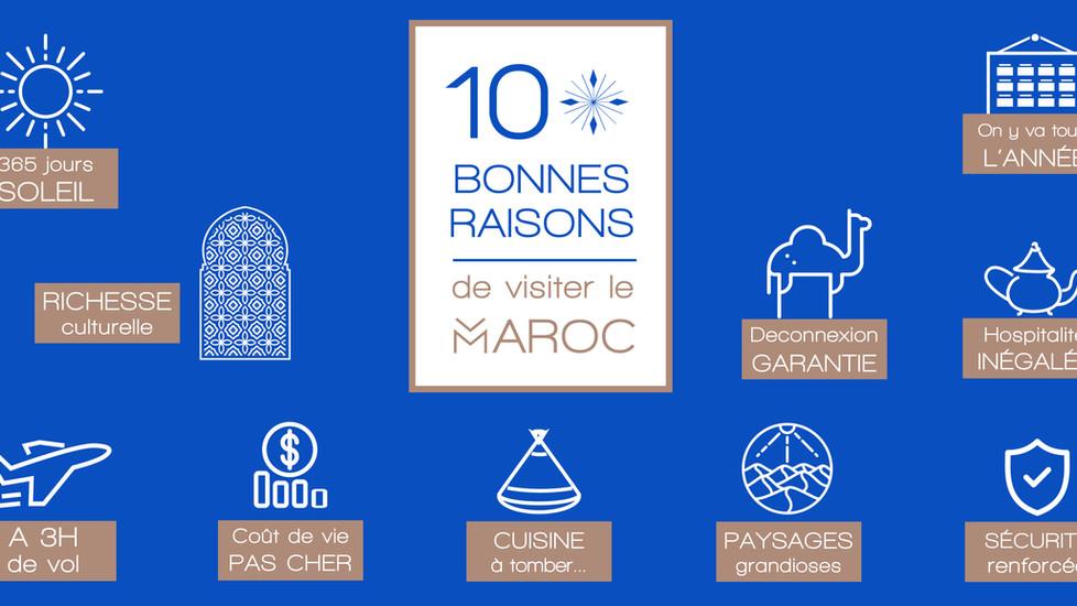 10 bonnes raisons de visiter le Maroc