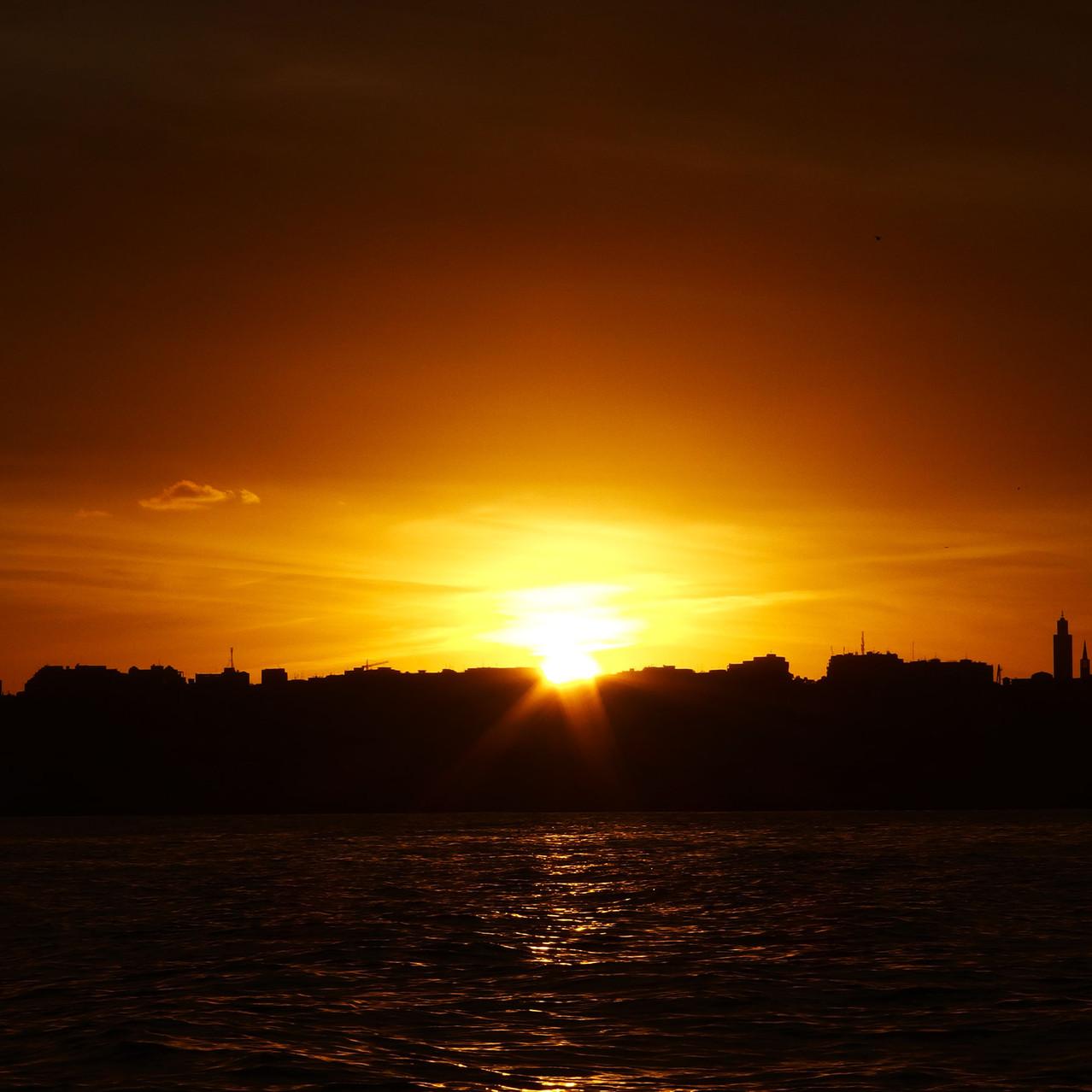 Coucher de soleil sur Tanger