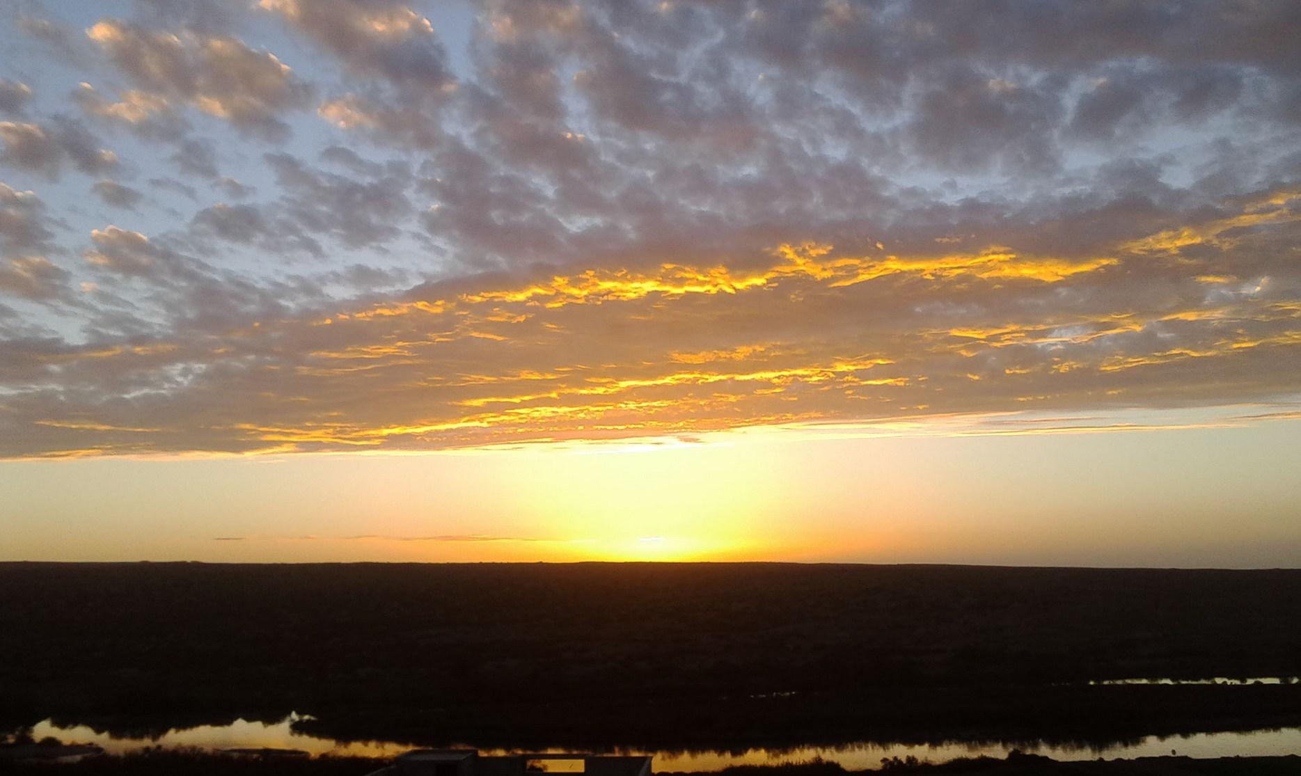 Coucher de soleil sur le Souss Massa
