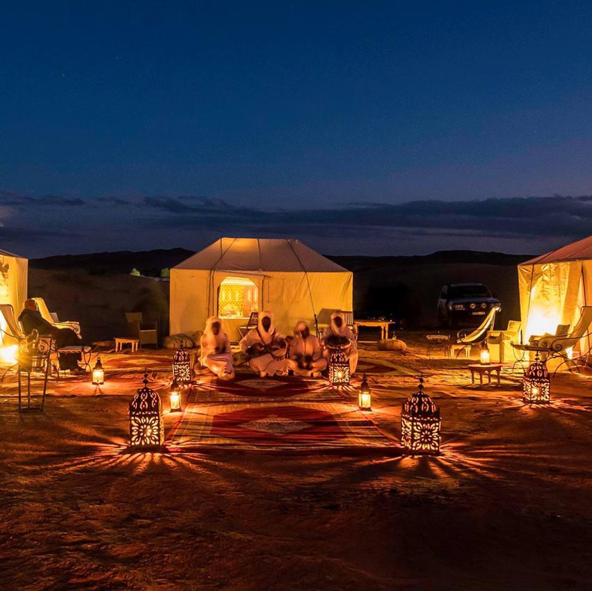 Camp nomade du Sahara
