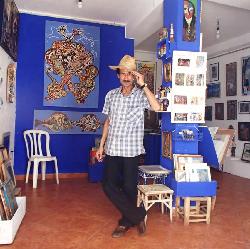 Mohamed dans la galerie