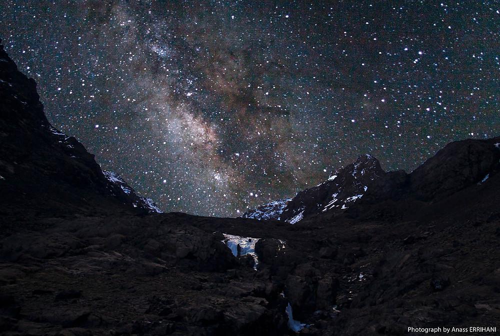 Voie lactée depuis le refuge du Toubkal - Randonnée Maroc