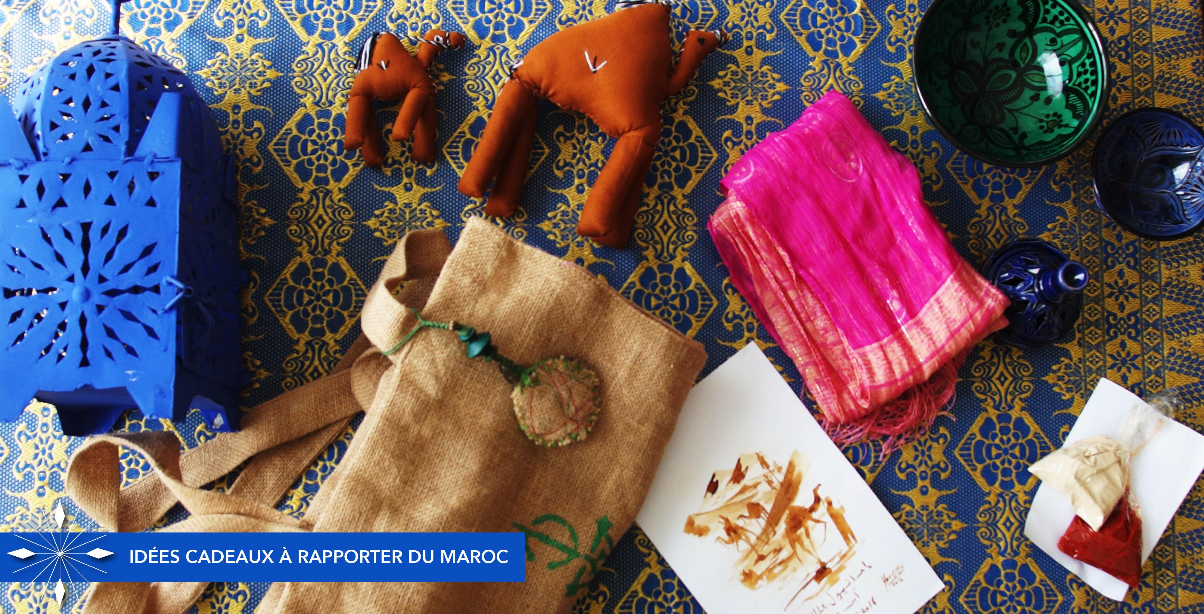 Idées de cadeaux originaux à rapporter du Maroc