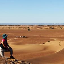 Méditation dans le désert