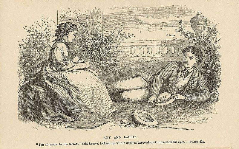 جو ولوري -  من رسومات الرواية التي رسمتها أخت ماري، ماي آلكوت
