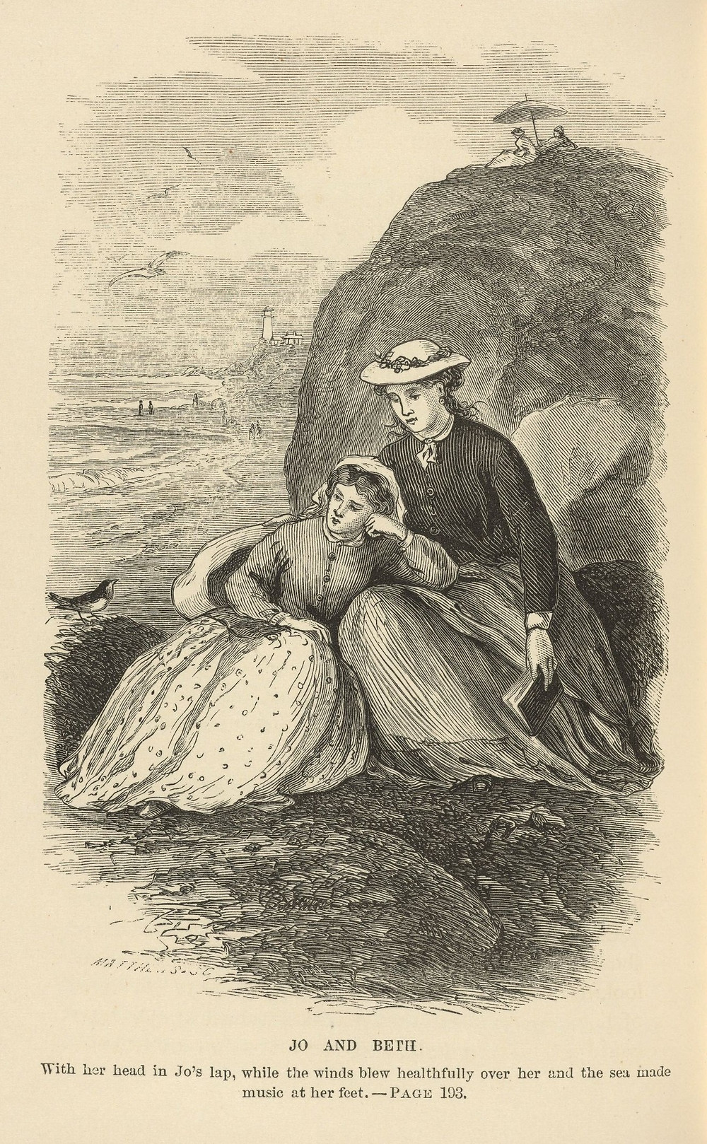 جو وبيث- من رسومات الرواية التي رسمتها أخت ماري، ماي آلكوت