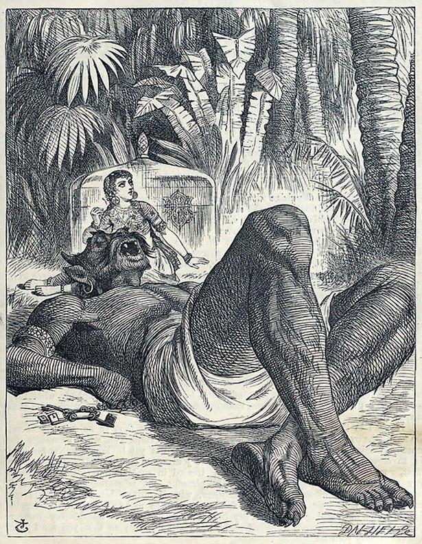 الجني النائم والصبية - جون تينيل, 1865