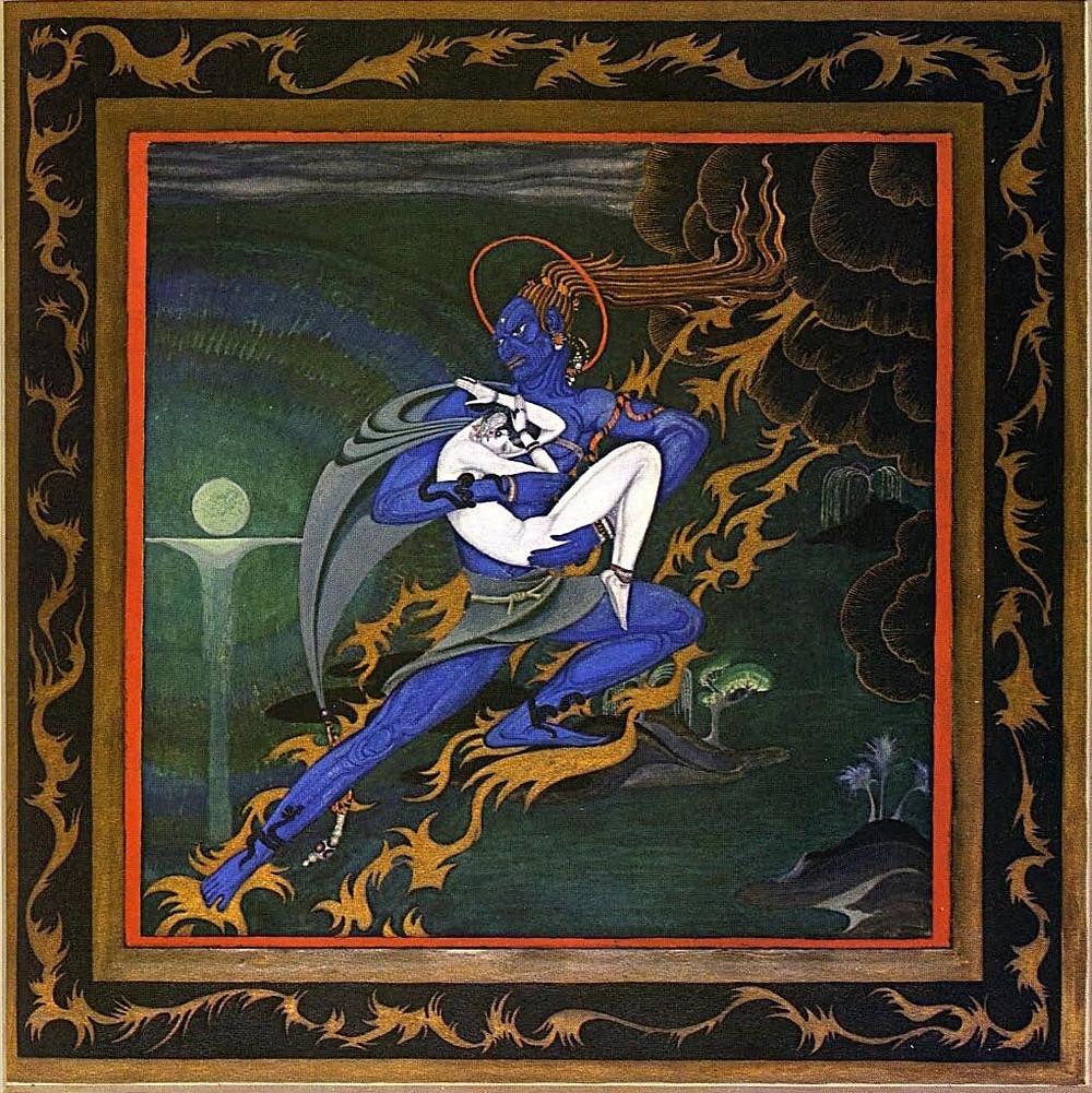 من الرسومات المستلهمة من ألف ليلة وليلة - للرسام الإيرلندي كي نيلسن، 1919