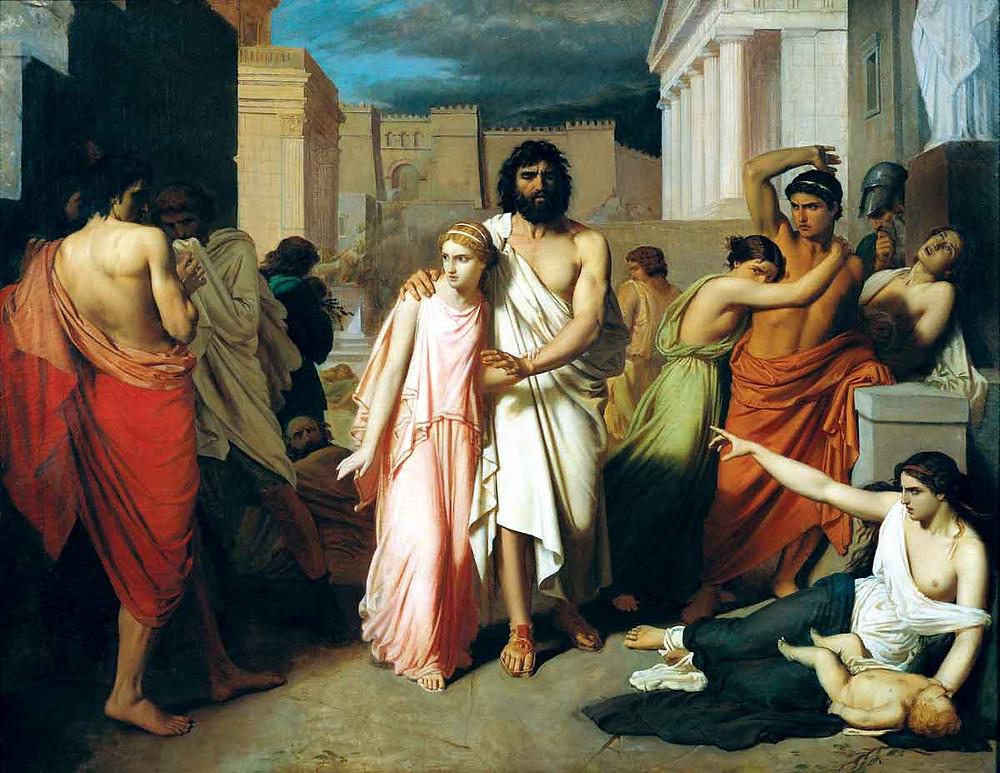 Oedipus and Antigone, by Charles Jalabert.