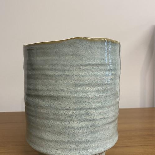 Medium Ceramic Planter - Light Blue