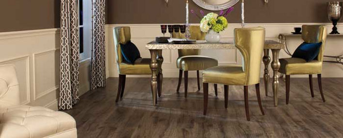 Wood Look Laminate Flooring in Dining Room