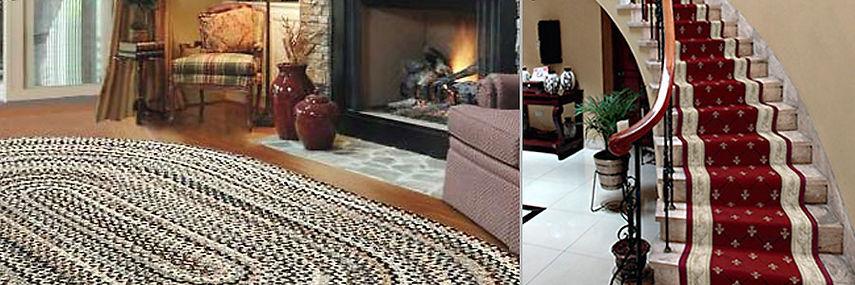 Braided Rug and Oriental Carpet Stair Runner