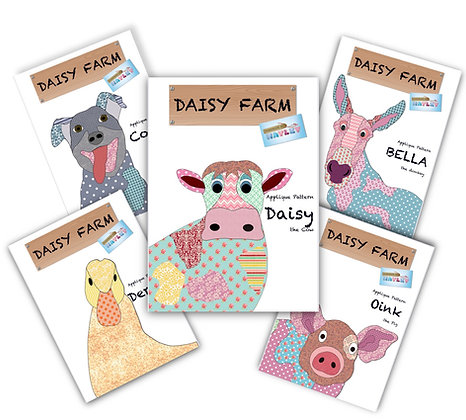 DAISY FARM APPLIQUE PATTERNS (PAPER VERSION) SET OF 5