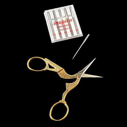 Madeira Stork Embroidery Scissors & Lucky Dip Embroidery Needles