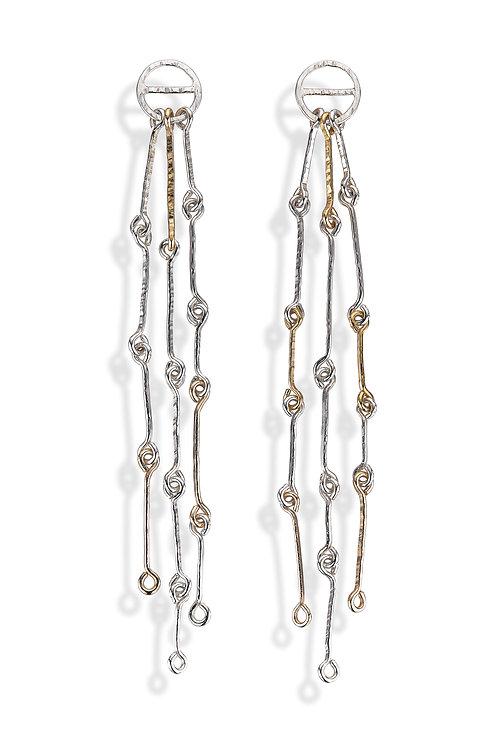 Long Linked Wire Earrings