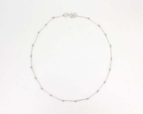 One Strand Linked Wire Necklace
