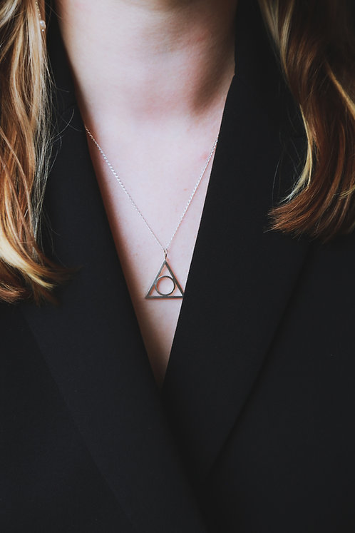 Hollow Triangular Pendant