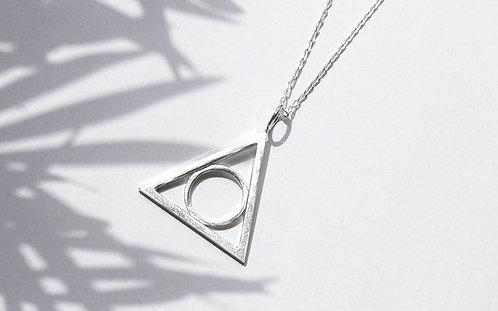 Hollow Triangular Pendant
