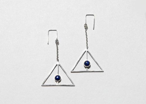 Horizon Earrings with Lapis