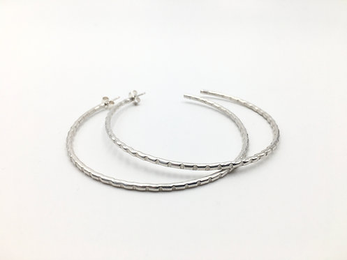 Notches Hoop Earrings