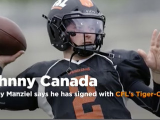 Johnny Canadian Football: Manziel says he has signed with CFL's Tiger-Cats