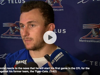 Johnny Manziel to make first CFL start Friday against Tiger-Cats