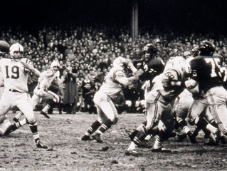 "3 thoughts on 60th anniversary of the ""Greatest Game Ever Played"""
