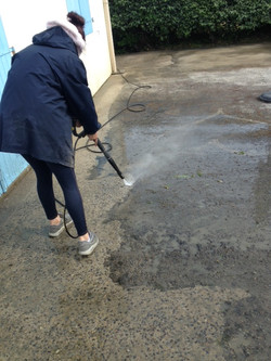 Karcher sur terrasse ciment