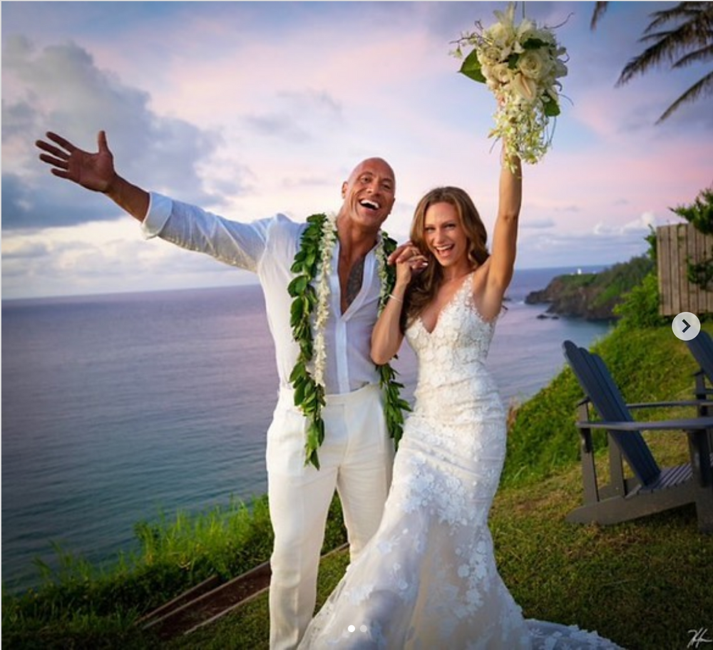 Dwayne The Rock Johnson marriage Instagram post