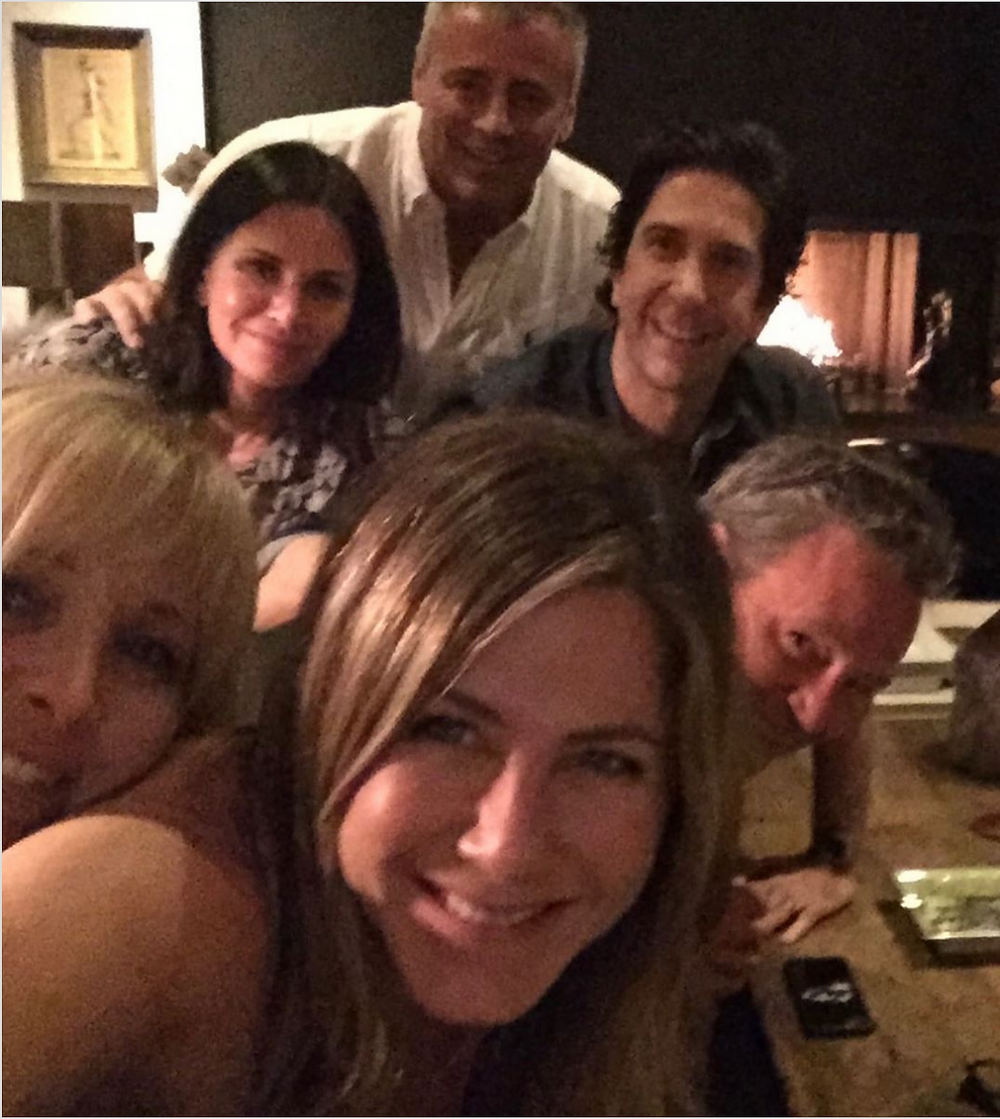 Jennifer Aniston Instagram Selfie with Friends Reunion Sitcom Co-Stars