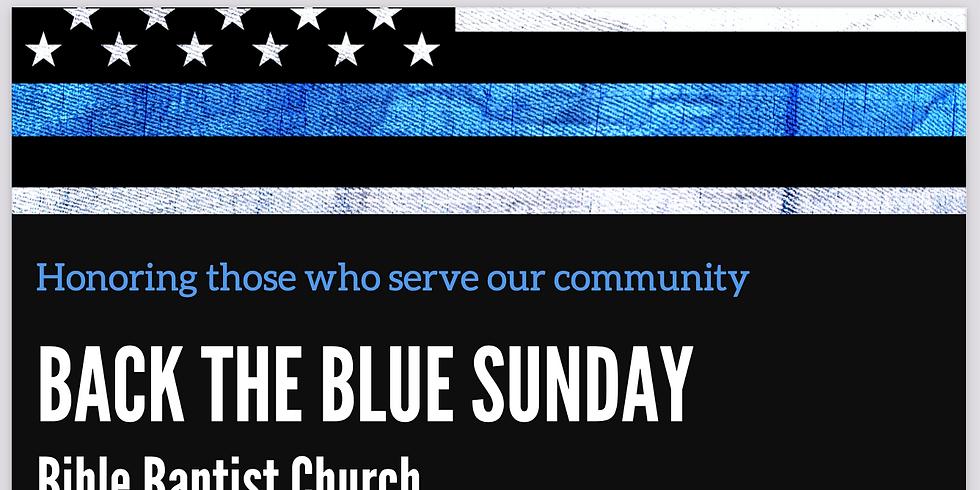 Back the Blue Sunday