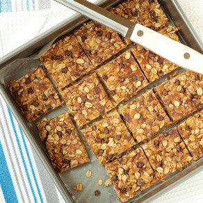 No-Bake Almond Butter Oat Squares